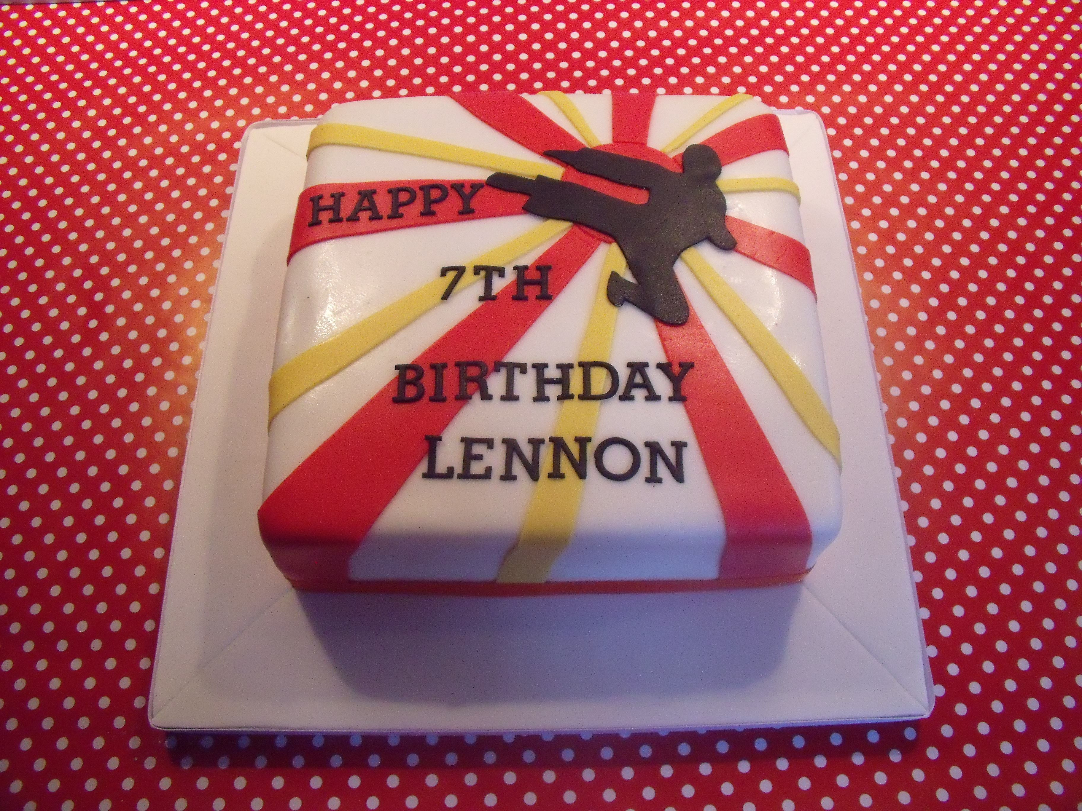 Karate Kid Karate cake Birthday cakes and Custom cake