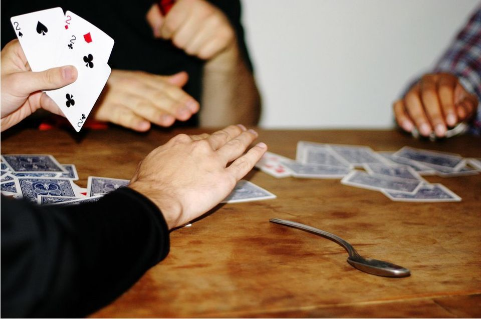 Learn How To Play Spoons Pig Tongue Or Whatever Else You Call It Card Games For Kids Card Games Pig Games