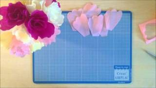 Comment Realiser Une Fleur Simple En Papier Crepon Via Youtube