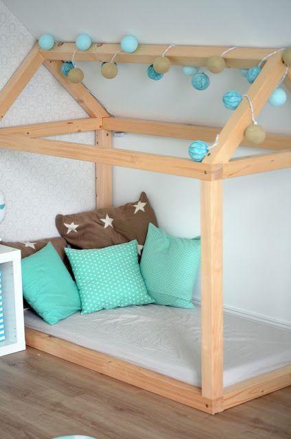 Kinderbett spielhaus  Deko-Hus: Anleitung Spielhaus Kuschelhaus | toni | Pinterest ...