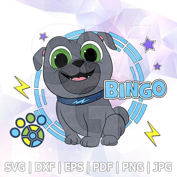Rolly Bingo Skateboard Svg Layered Puppy Dog Pals Dxf Vector