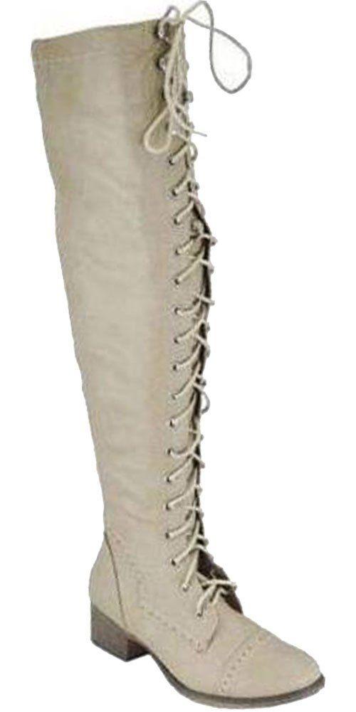 Amazon.com: Breckelles Women's Alabama-12 Knee High Riding Boots ...