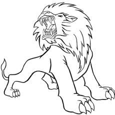 El Leon De Barbary Leon Para Colorear Leones Animales