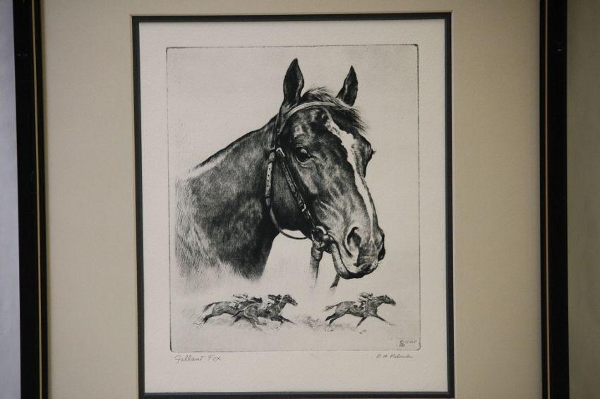 Gallant Fox Horse Print Listed Artist Rh Palenske Palenski