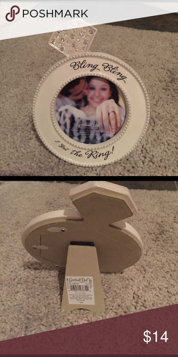 Elegant Bling Bling I Got The Ring Picture Frame