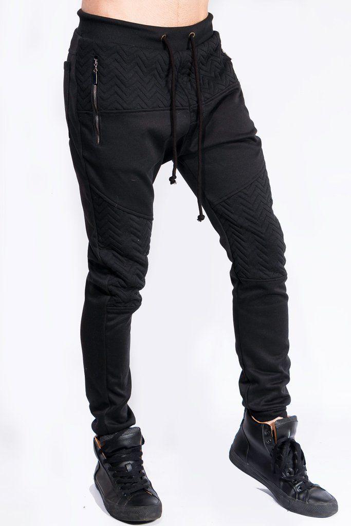 Joggers - Jogger Negro Ajustado Pantalones a1ab31c47133