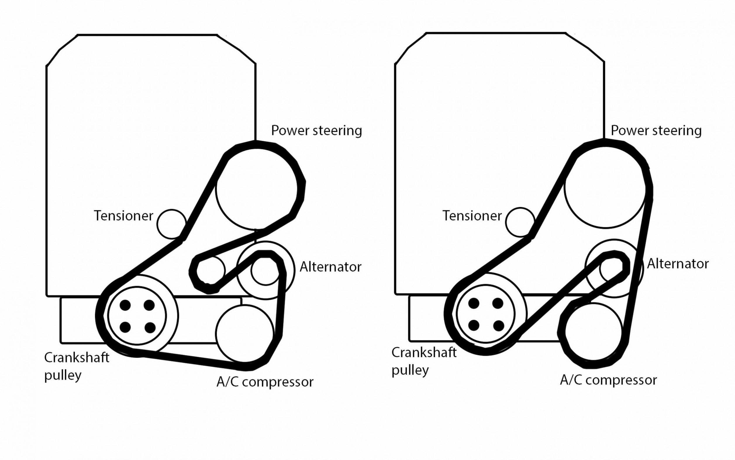 Engine Diagram Fan Belt di 2020