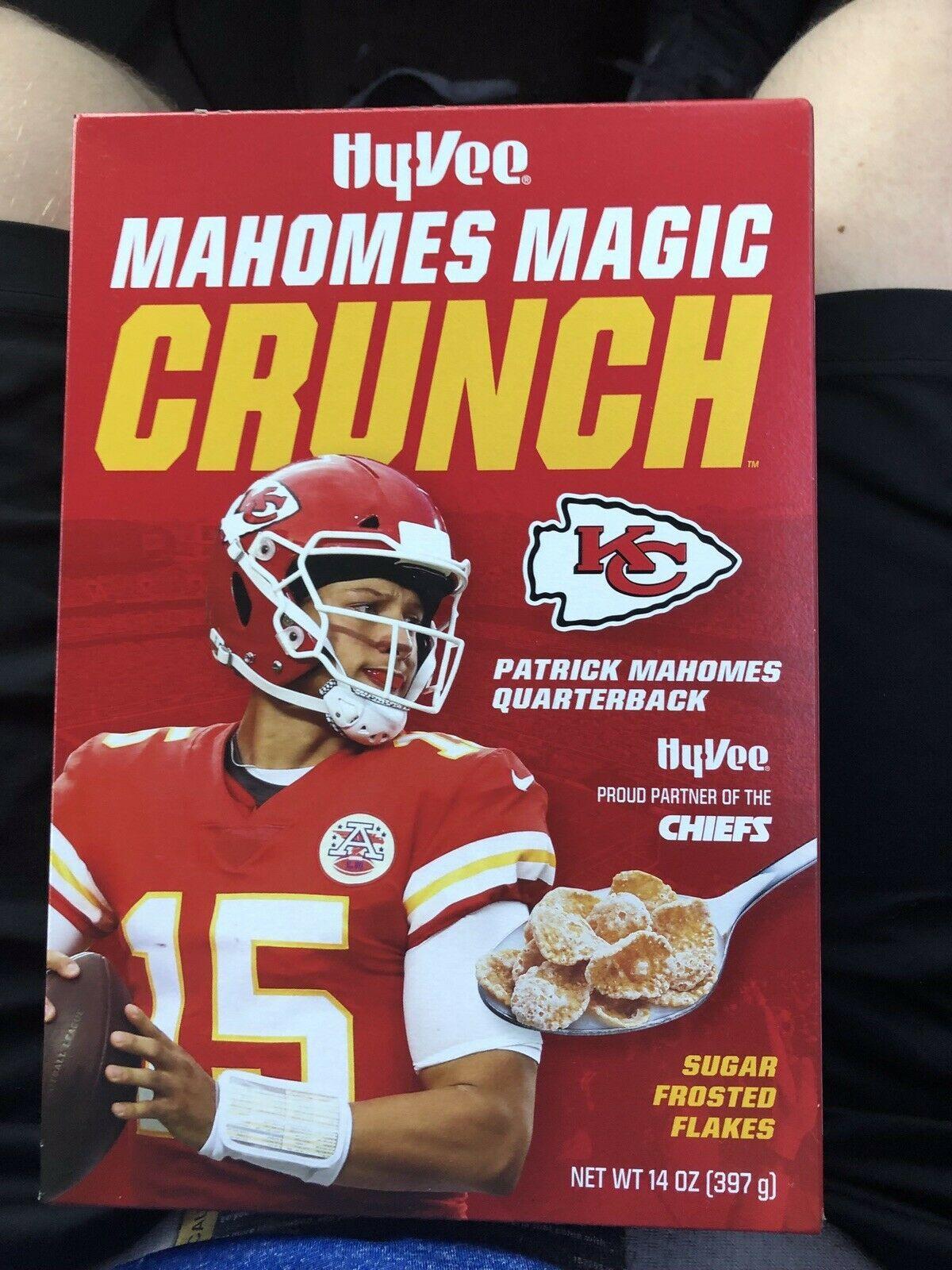Patrick Mahomes Cereal Hy Vee Mahomes Magic Crunch Kansas City