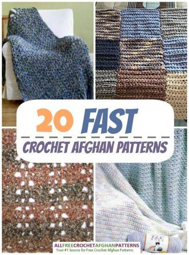 32 Fast Crochet Afghan Patterns A Crochet Books Pinterest Fast