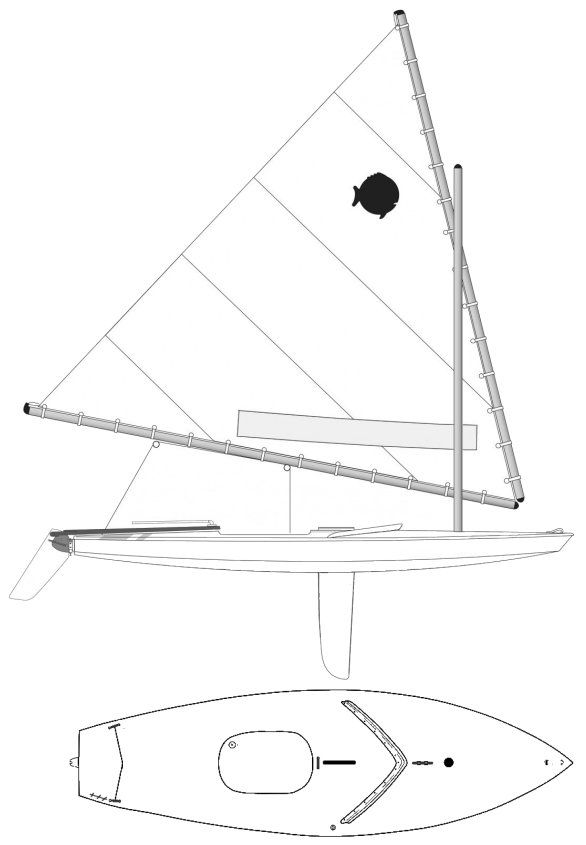 Drawing Of A Sunfish Sailboat Design In 2019 Sailboat