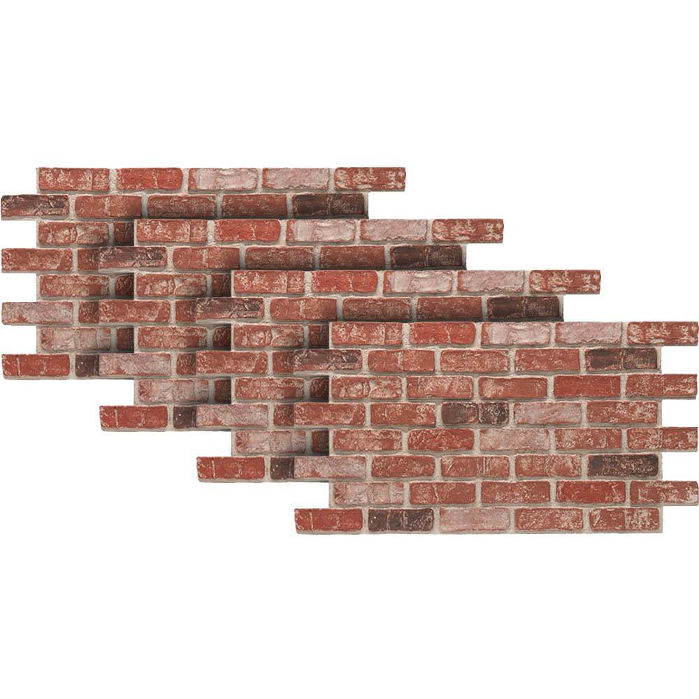 Urestone Old Town 24 In X 46 3 8 In Faux Used Brick Panel 4 Pack Ul2600pk 70 En 2020 Paneles Imitacion Piedra Revestimiento De Piedra Para Fachada Ladrillos Vistos