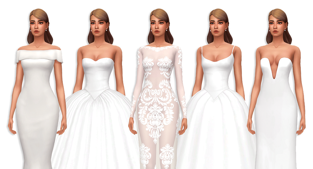 Anonymous Said: Do You By Any Chance Have Cc Wedding Gowns