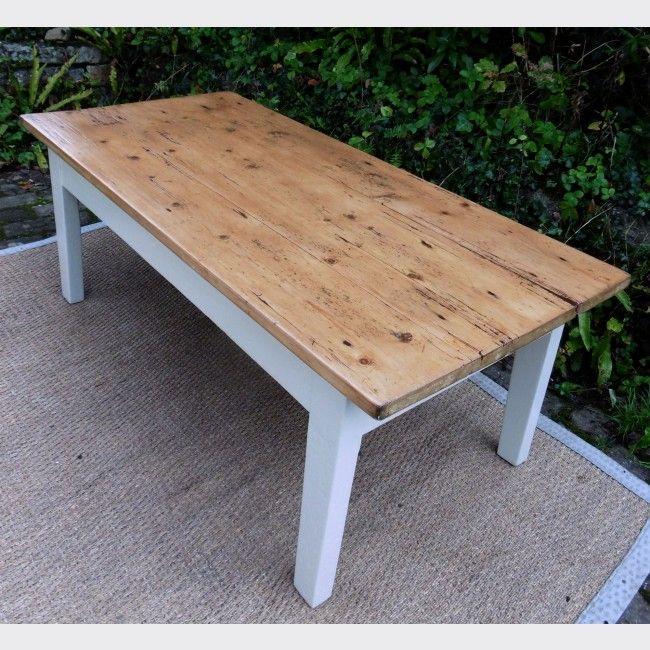 table de salon en bois peint bois