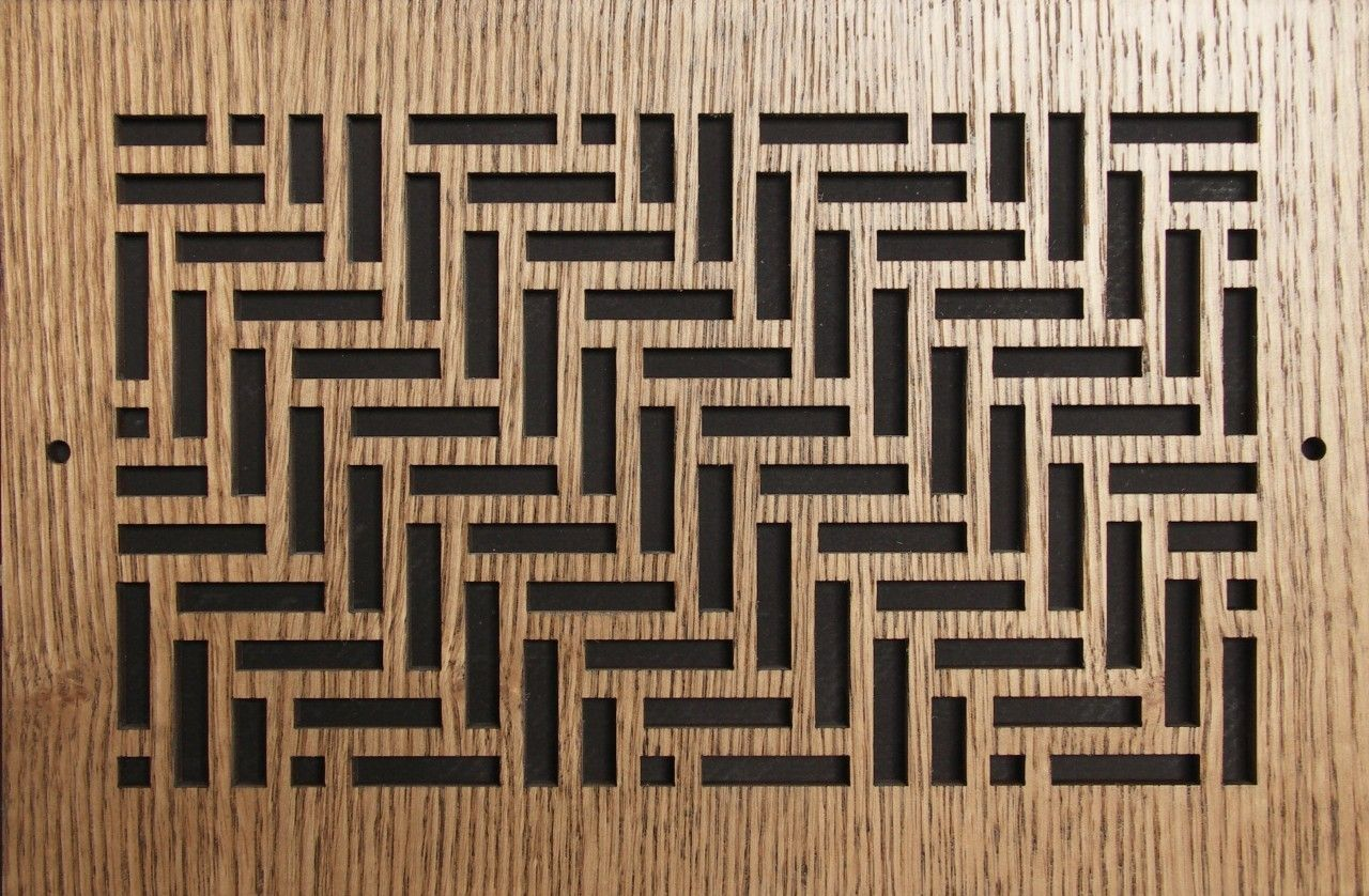 Wood Wall and Ceiling Vent Covers Pattern T Decorative