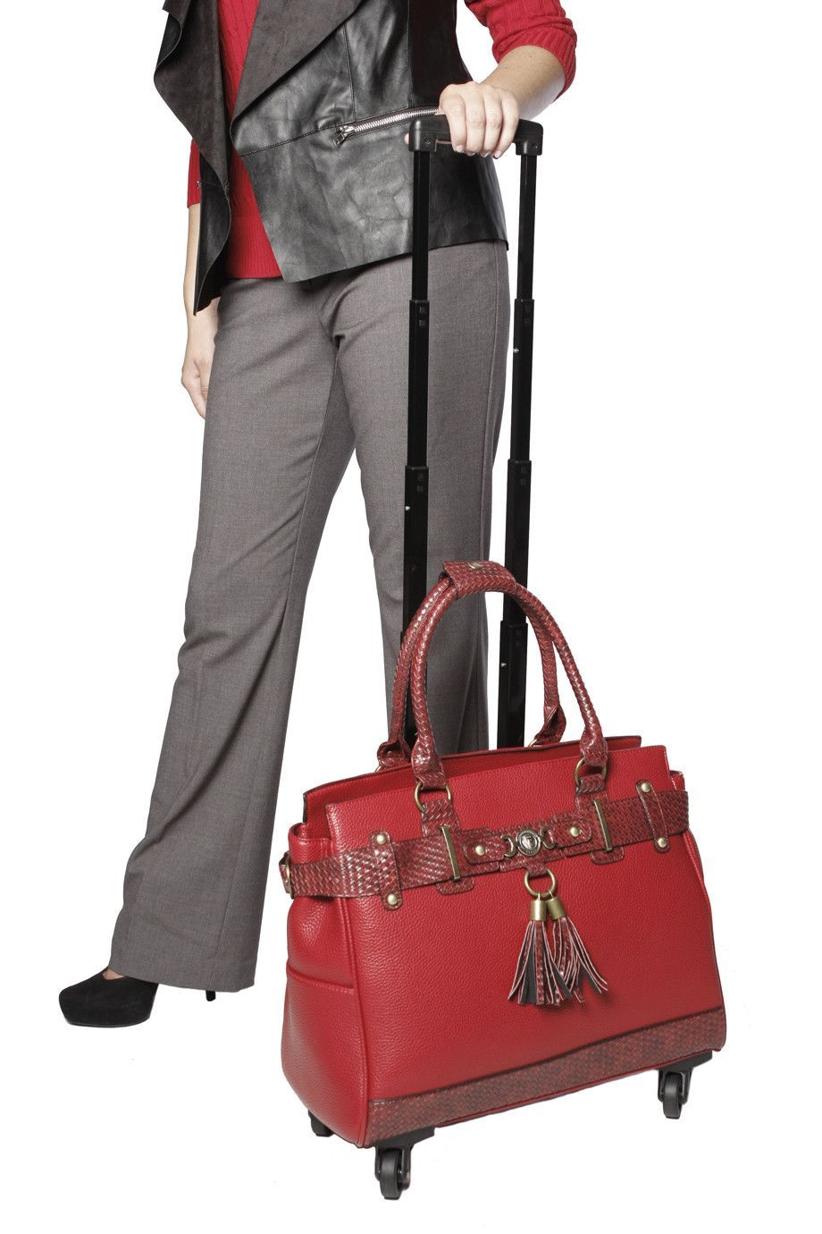 Black Executive Compu Briefcase Laptop Bag Case HIGH END W//Pocket Leather Trim