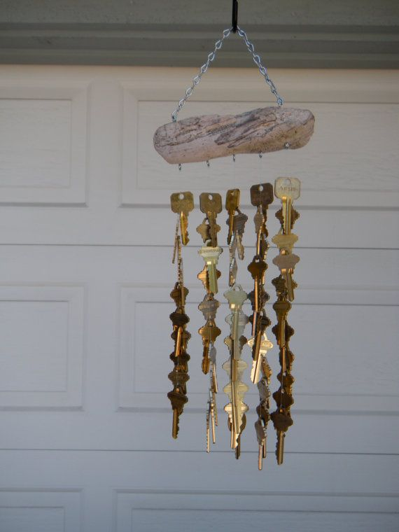 Key wind chime you ve key and craft for Wind chime craft projects