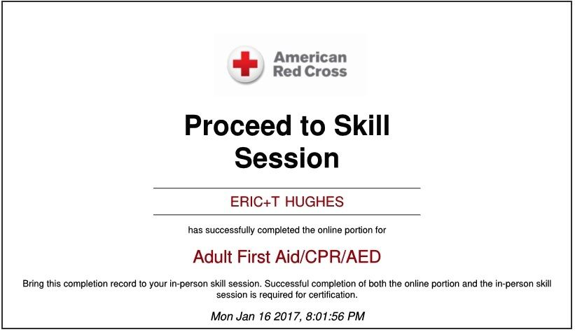 2017 01 16 90 I Enrolled In The American Red Cross Adult First Aid