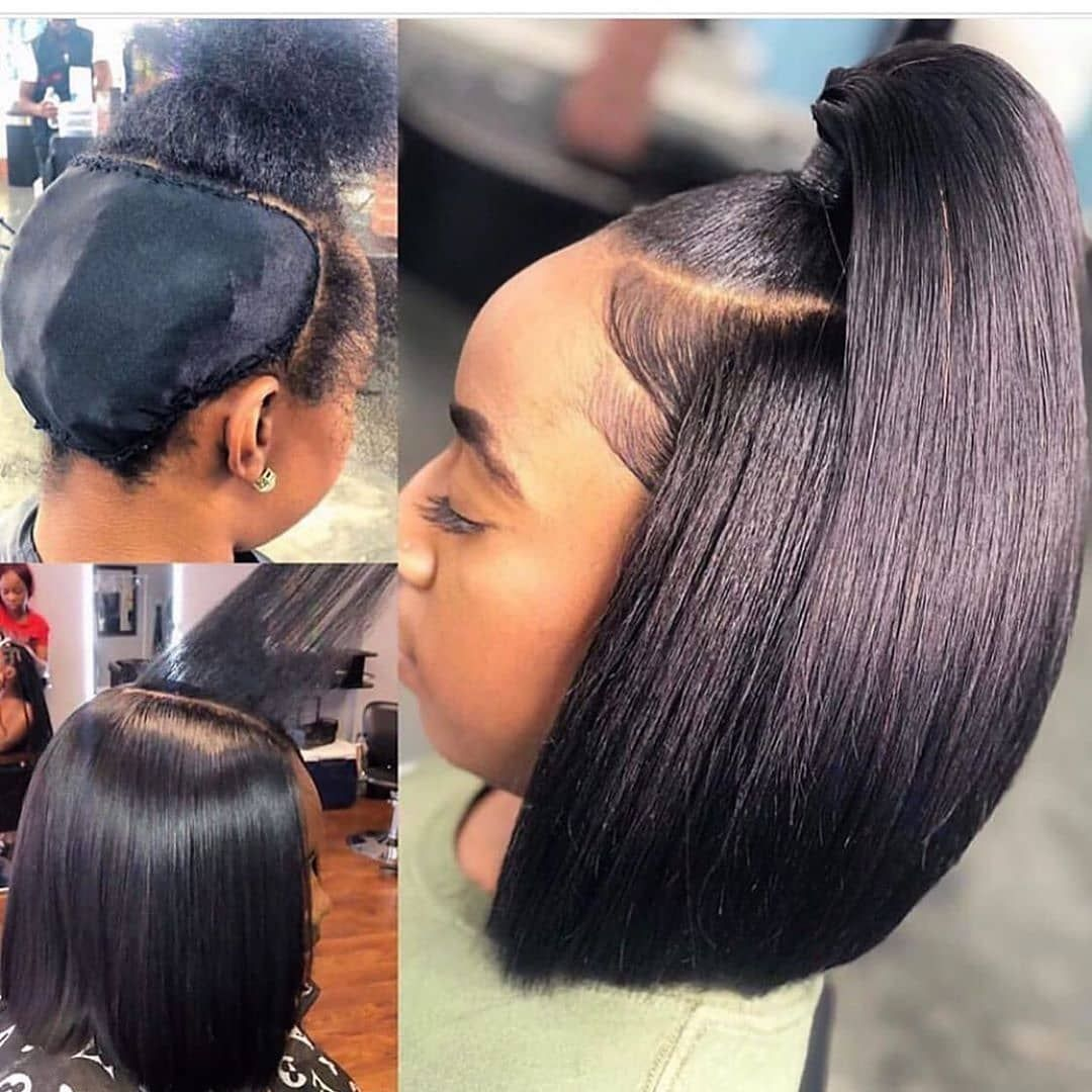 Youmi Hair Pre Plucked Lace Front Wig And Full Lace Wig Bob Straight Natural Color Human Hair Wigs Ym0013 In 2020 Quick Weave Hairstyles Weave Hairstyles Weave Ponytail Hairstyles