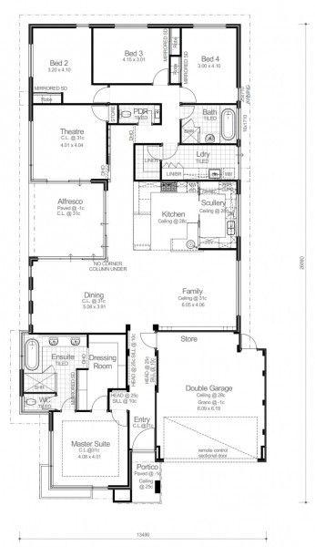 Yeni Moda Tek Katlı Ev Planları Plan 246 Rnekleri Modelleri