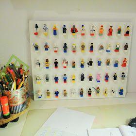 selber machen basteln diy ideen anleitung ines felix lego figuren ordnung brett wand. Black Bedroom Furniture Sets. Home Design Ideas
