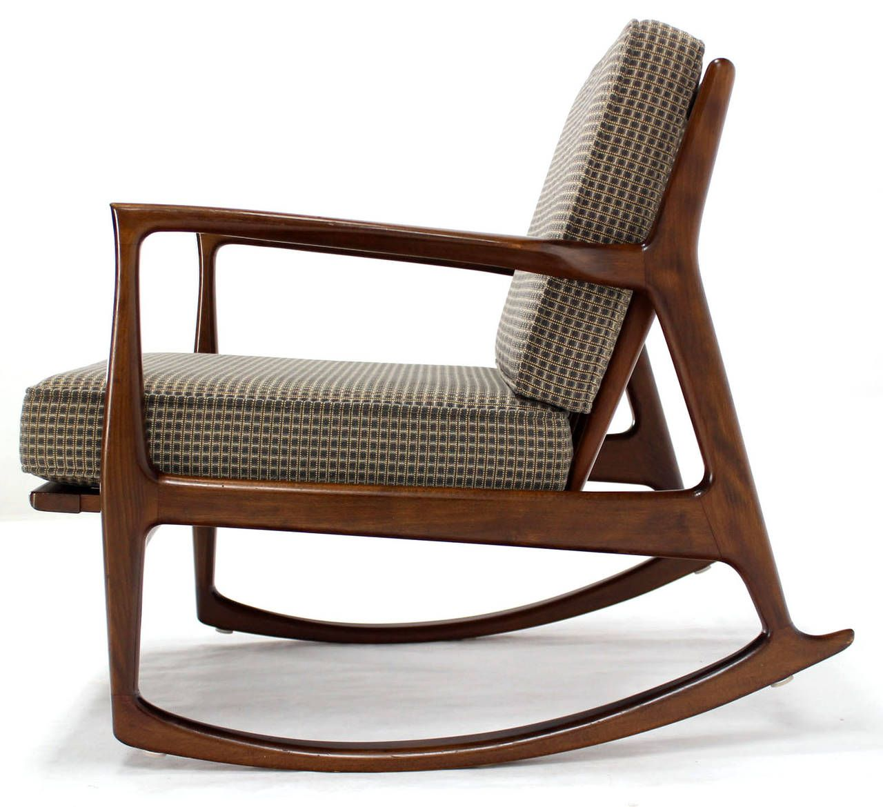 Long Mid Century Modern Rocking Chair Cadeira De Balanco