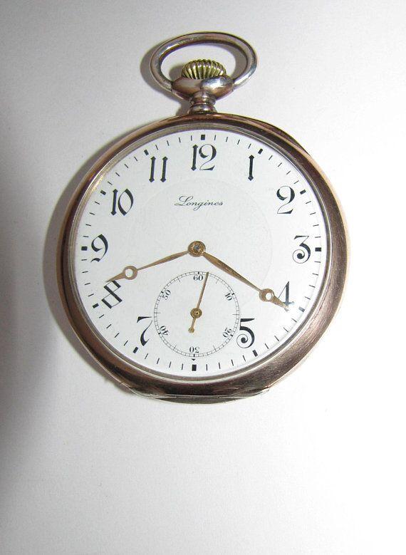 e4edff37964f Impresionante reloj de bolsillo suizo Longines. Hace alrededor de 1920.  Estado Super