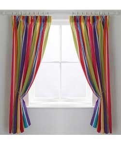 Colourmatch Kids Stripe Curtains 168 X 137cm At Argos Co Uk