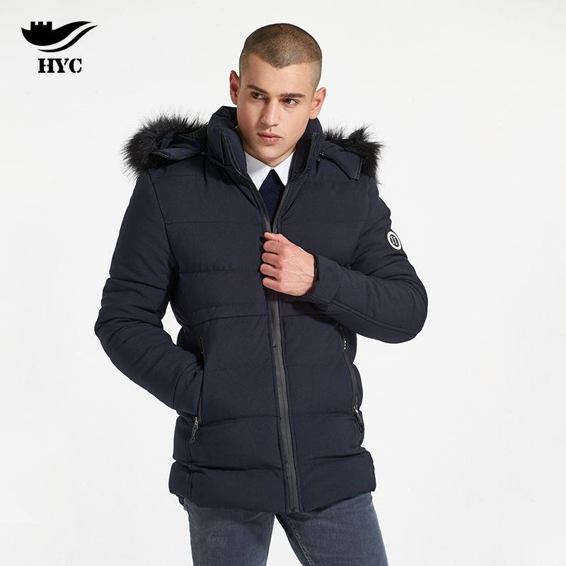 HAI YU CHENG Jacket Male Coat Winter Brand-Clothing Parka Fur Coat ...