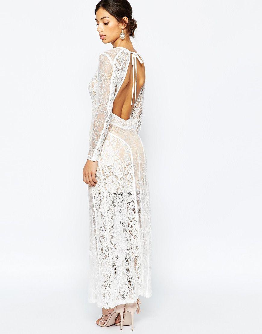Bild 4 von True Decadence Petite – Maxi-Kleid aus hochwertiger ...