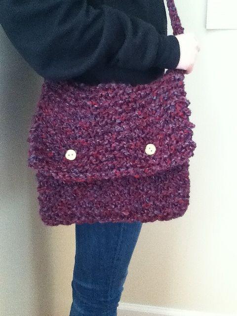 Monster Messenger Bag Pattern By Nay Loom Knitting Pinterest