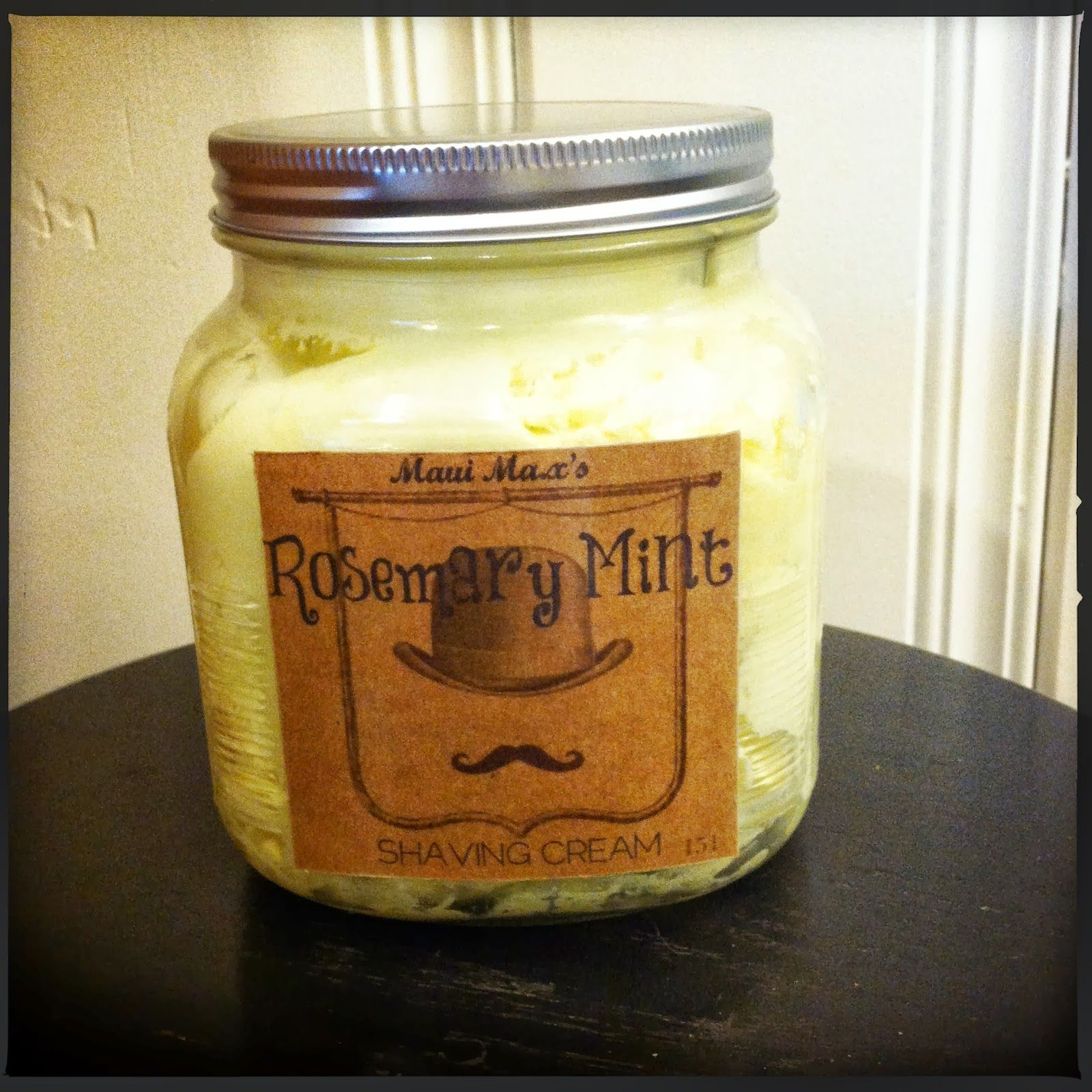 diy rosemary mint shaving creamsuper easy recipe with all