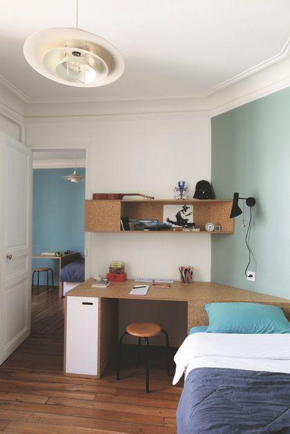 les chambres des gar ons s 39 harmonisent en enfilade home. Black Bedroom Furniture Sets. Home Design Ideas