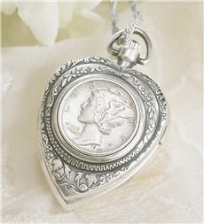 Watch Pendant With Mercury Dime  $32.99