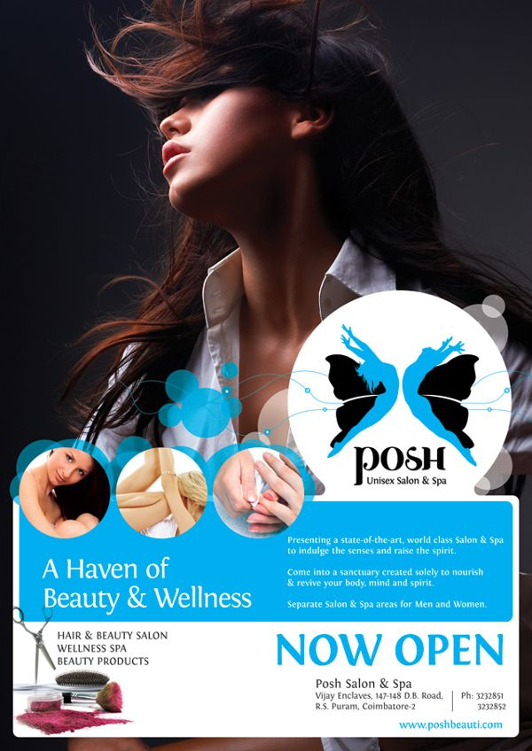 Poster Designing Work On Behance  Spa Ad Flyer