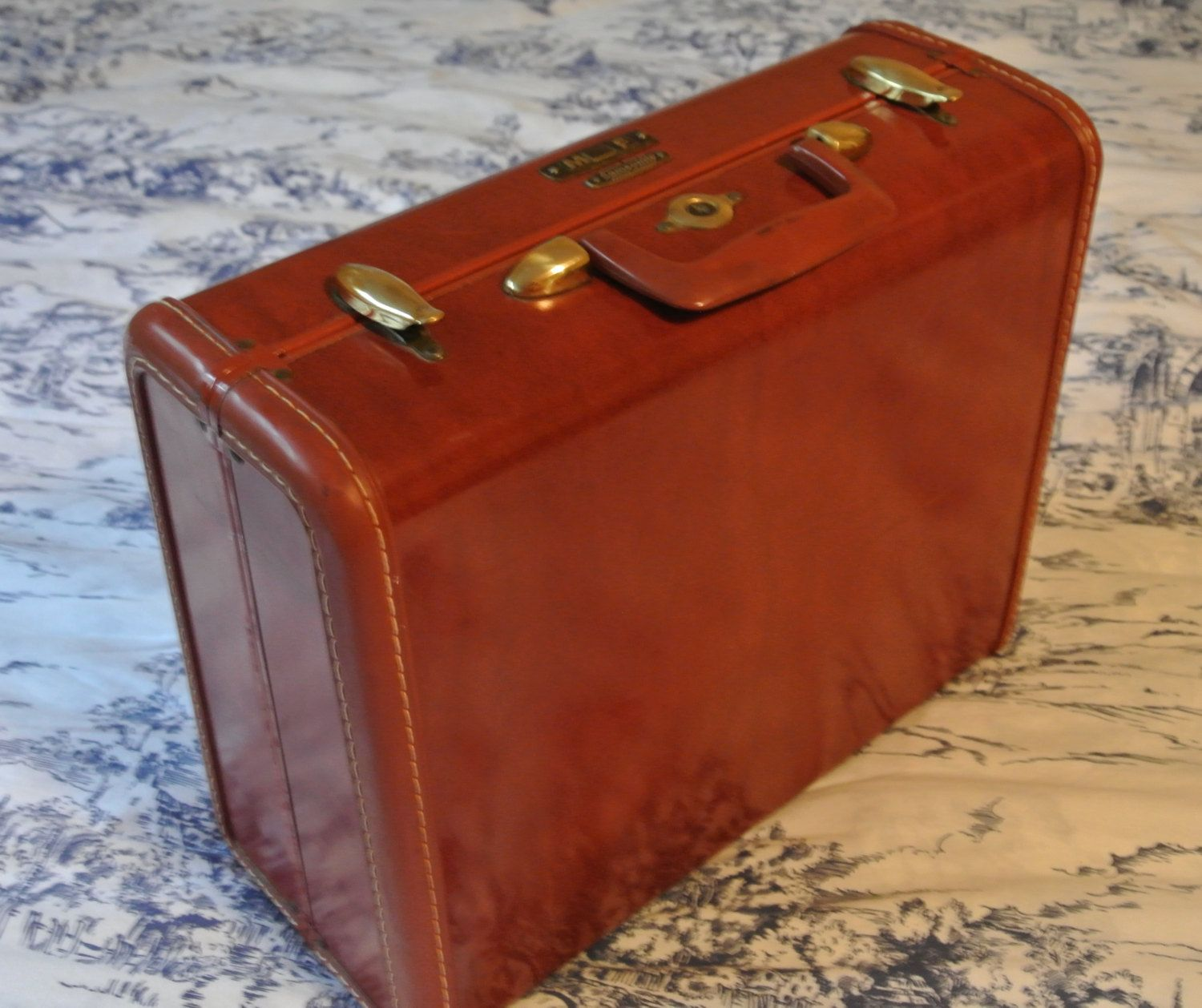 Samsonite Vintage Suitcase, Retro Brown Faux Leather, Samsonite ...