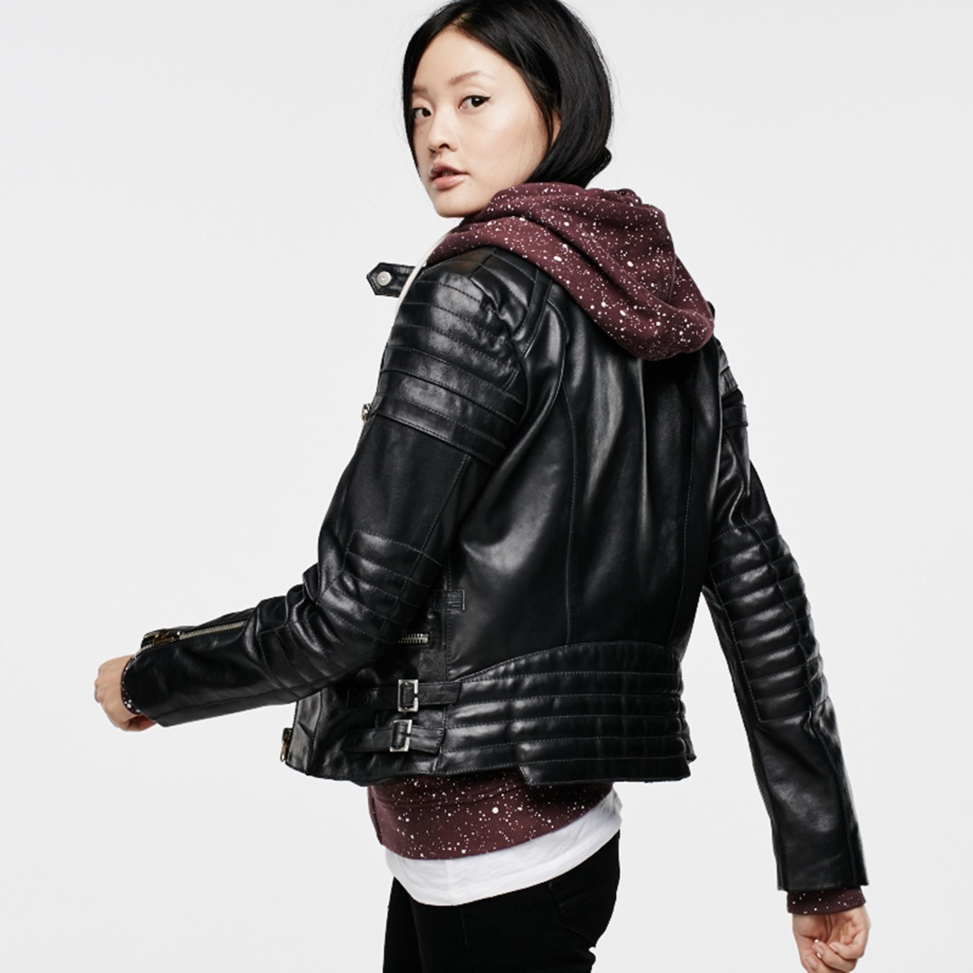 Biker Solid Leather Slim Jacket Black G Star Raw G Star Jackets G Star Raw [ 2000 x 2000 Pixel ]