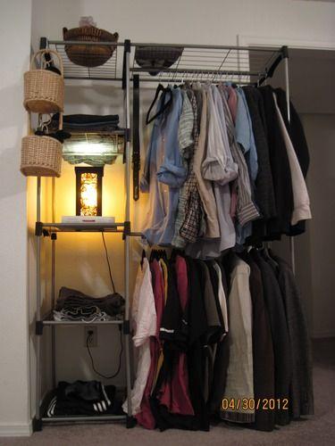 Amazon Com Whitmor 6779 3044 Double Rod Closet Silver Portable Closet Free Standing Closet Whitmor
