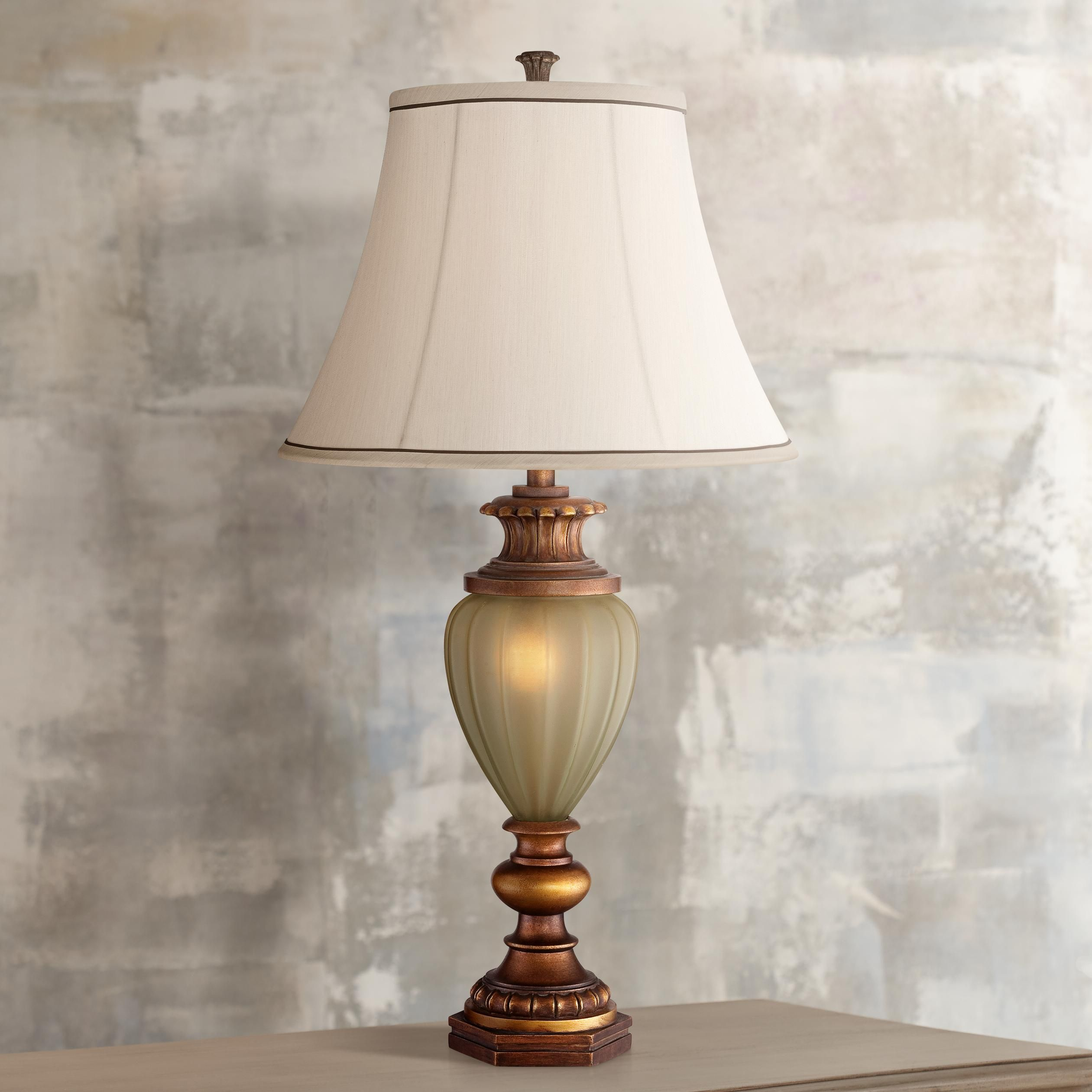 Wood End Table Lamps