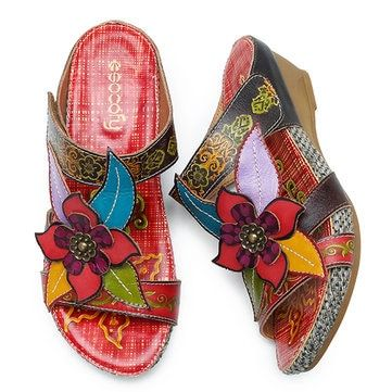 e65cb7eef2d SOCOFY Bohemian Leather Adjustable Hook Loop Handmade Flowers Sandals