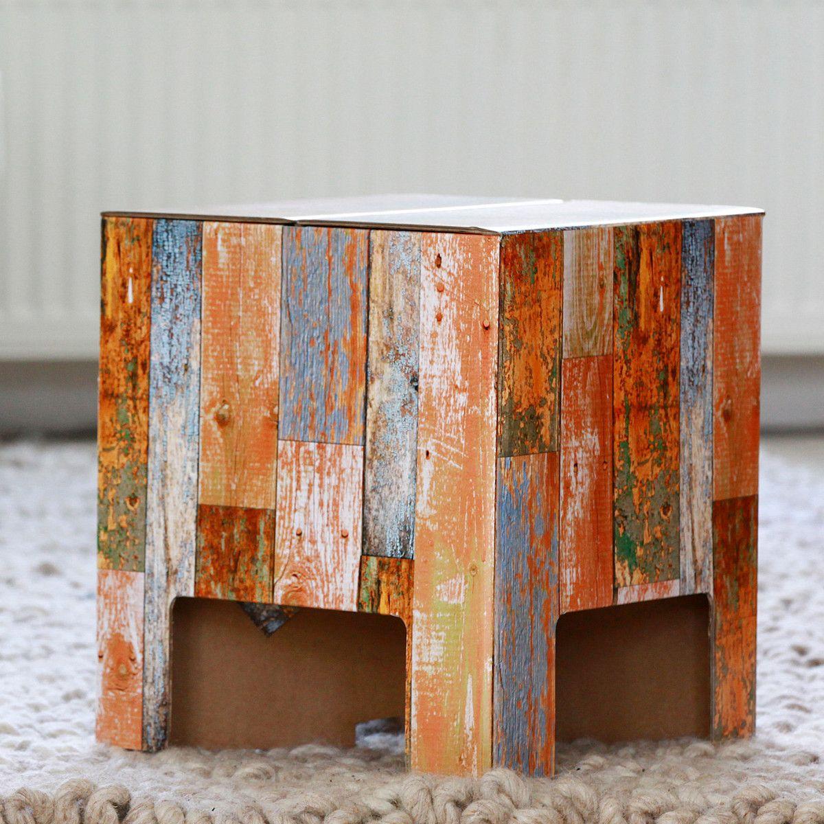 dutch design chair scrap wood / made of corrugated cardboard