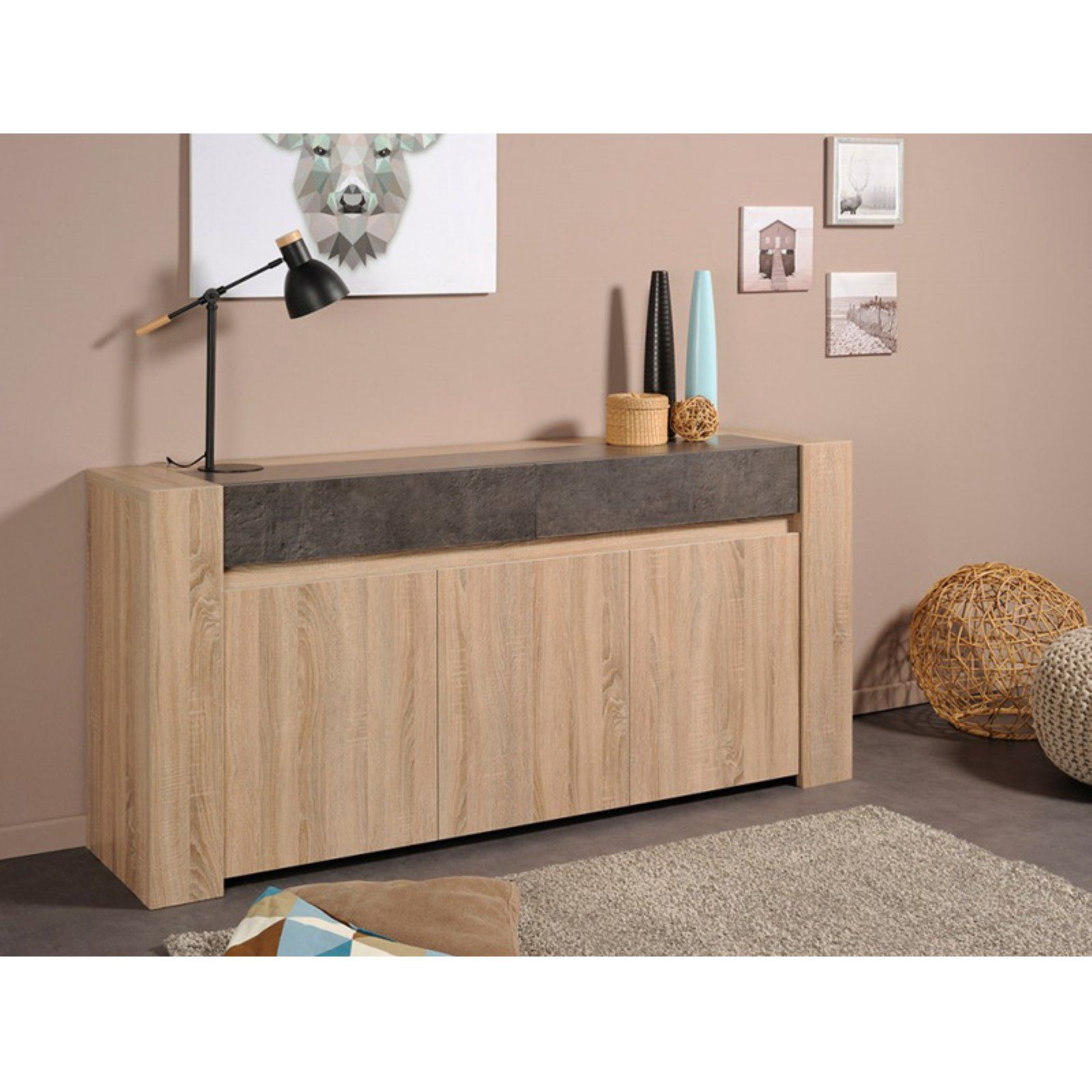 Parisot Spare Sideboard With 2 Doors And 1 Drawer Sideboard