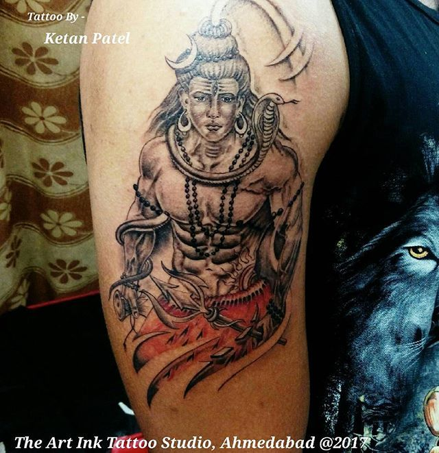 Tattoo Designs Mahadev: Shiva Six Pack Abs Tattoo Artist: Ketan Patel #shiva