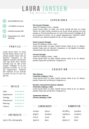 Resume Template In Ms Word Including Matching Cover Letter