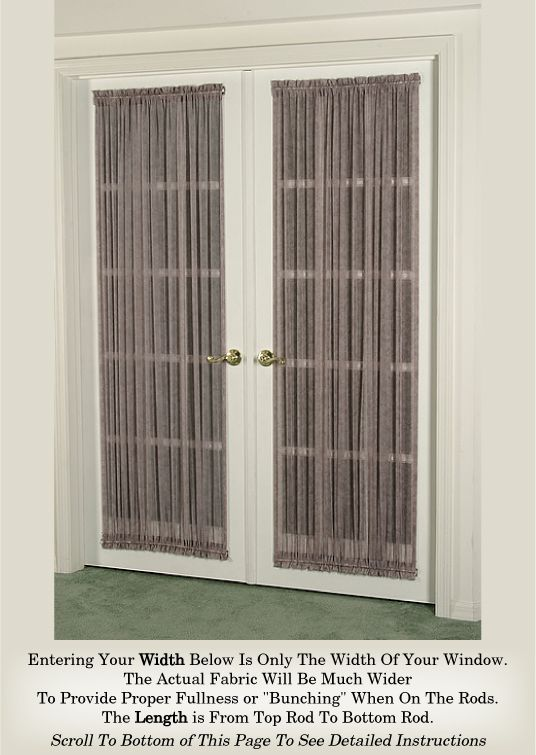 French Door Curtain Multi Color Sheers Door Curtains French