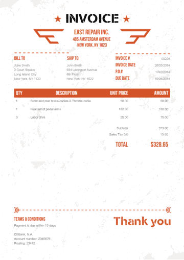 Military Orange No Logo Invoices Pinterest Create Invoice - Create invoice pdf
