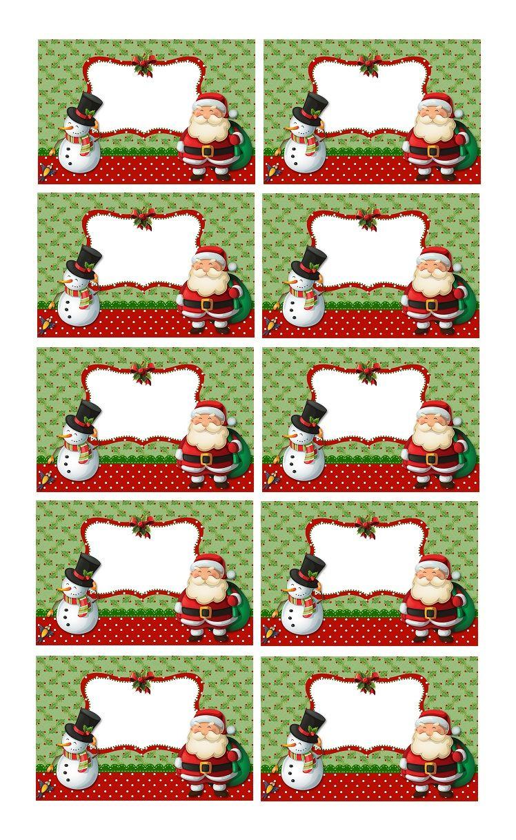 Creer Etiquettes De Noel A Coller Sur Les Cadeaux A Offrir