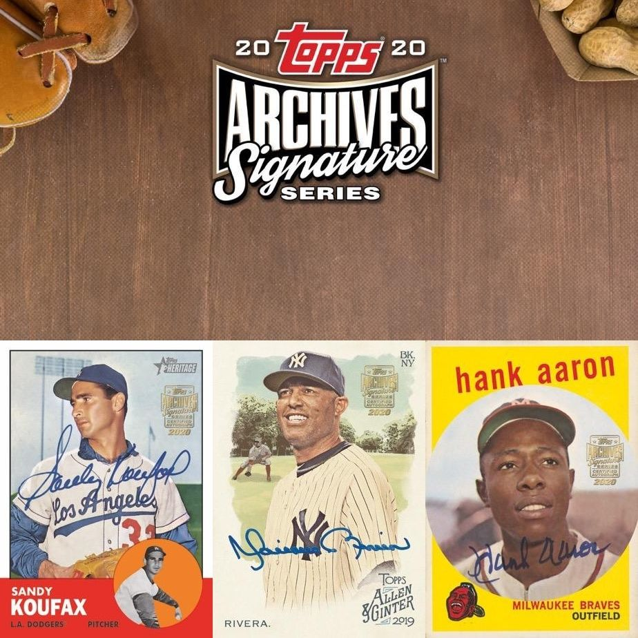 2020 topps archives signature series retired checklist