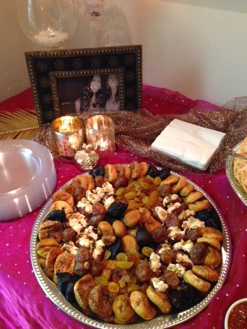 delicious desserts at a Moroccan tea party