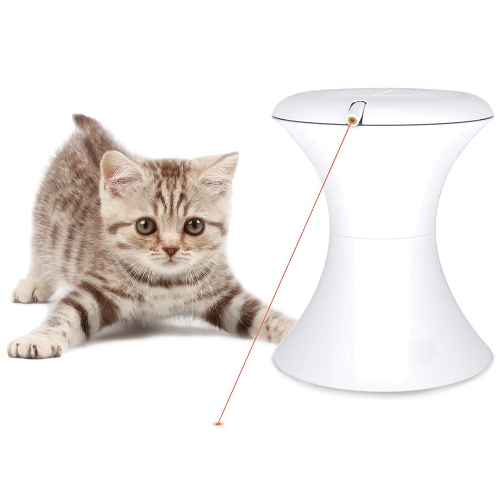 The Laser Image Chase Toy Single Beam Hammacher Schlemmer Cat Laser Cat Toys Interactive Cat Toys