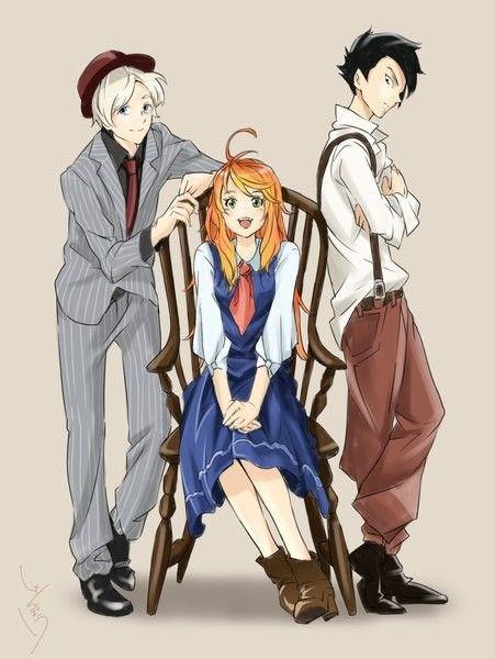 Norman Ray Emma Yakusoku No Neverland Anime Casal Anime E
